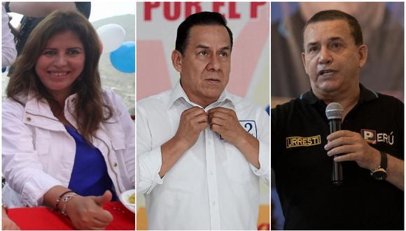 Carmen Omonte (APP), José Vega (UPP) y Daniel Urresti (PP) son algunos congresistas en campaña al 2021. (Fotos: GEC)
