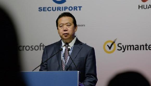 Interpol pide a China que aclare la desaparición de Meng Hongwei. (Foto: AFP)