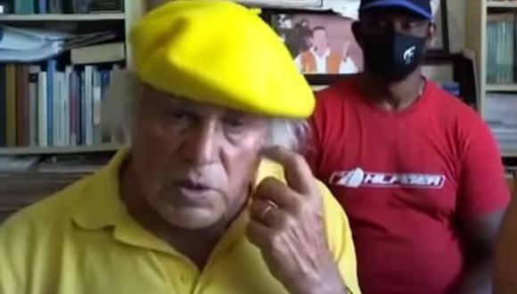 Imagen del cura Fernando Báez Santana, que generó indignación por sus declaraciones sobre el caso de las niñas Olivia y Anna. (Captura de video).