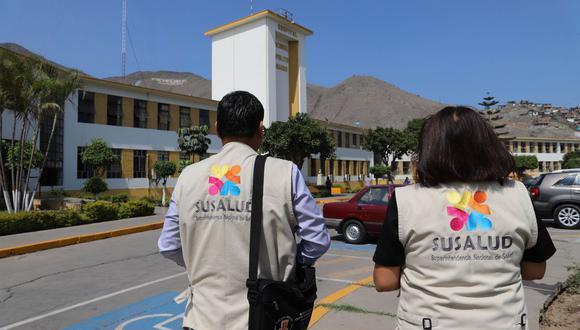 Susalud informó que supervisará los principales nosocomios ubicados en los distritos de Lima y Callao ante la suspensión del servicio de agua programada por Sedapal. (Foto: Susalud)