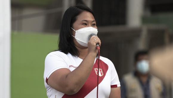 Keiko Fujimori exhortó al JNE a realizar cuatro debates electorales. (Foto: Renzo Salazar / @photo.gec)