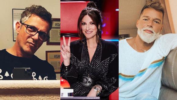 Alejandro Sanz revive divertido momento con Laura Pausini y Ricky Martin. (Foto: Composición/Instagram)