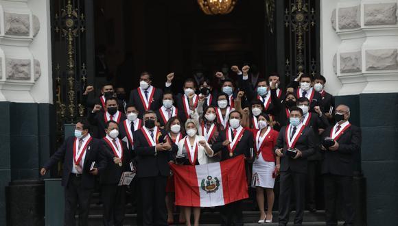 La bancada de Perú Libre, partido con el cual ganó Pedro Castillo la presidencia de la República, es la más numerosa del futuro Congreso. (Foto: Anthony Niño de Guzmán / @photo.gec)