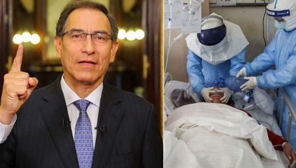 El presidente Martín Vizcarra informó que el primer caso de coronavirus en el Perú se diagnosticó en un hombre de 25 años que estuvo en España, Francia y República Checa. (Foto: GEC/AFP)