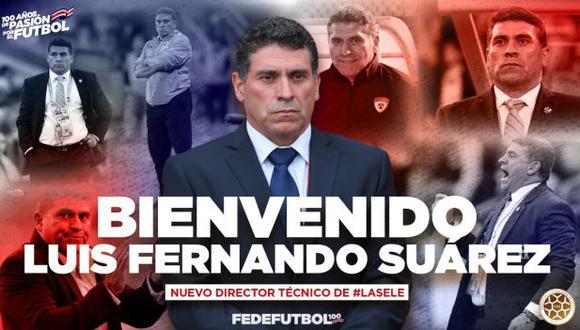 Luis Fernando Suárez es el nuevo entrenador de Costa Rica. (Foto: @fedefutbolcrc)