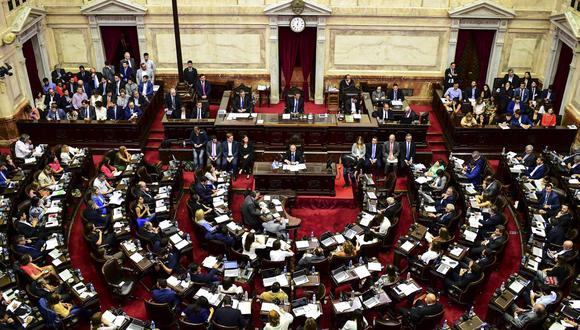 El Congreso de Argentina debate ley de aporte extraordinario sobre grandes fortunas para paliar la crisis económica. (RONALDO SCHEMIDT / AFP).