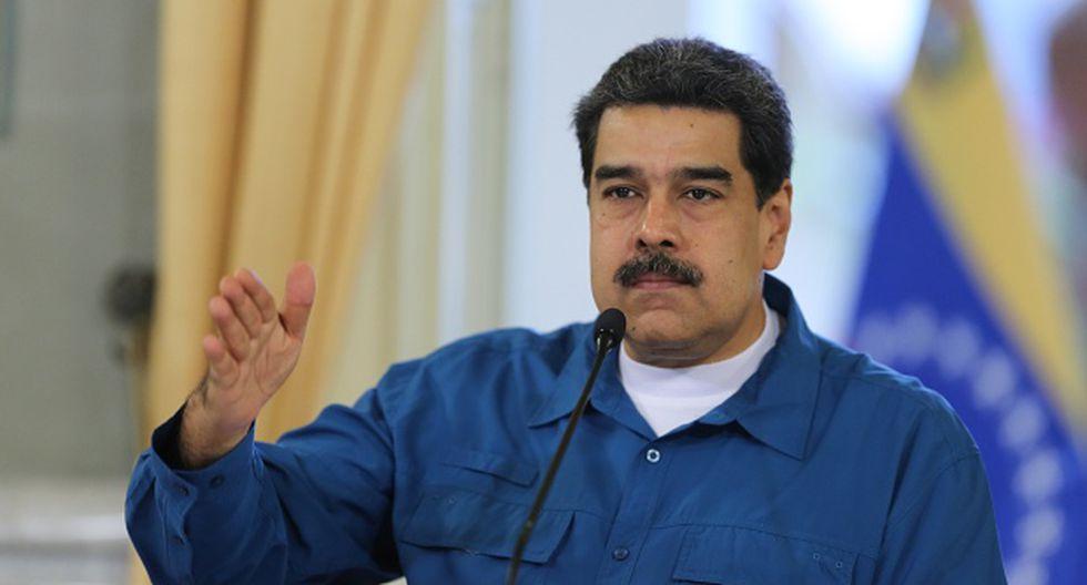 """""""Junto a Cuba sigamos trabajando"""", dijo el líder chavista. (Foto: AFP)"""