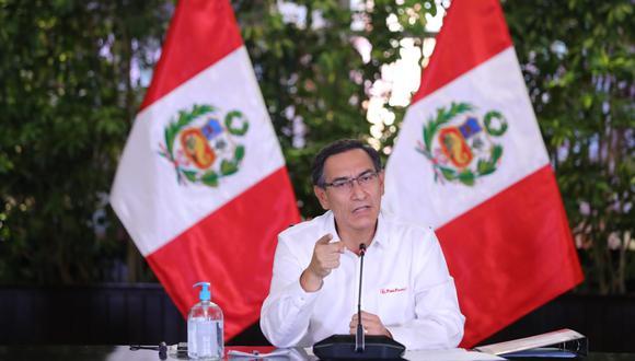 El presidente de la República,  Martín Vizcarra. (Foto: Presidencia)