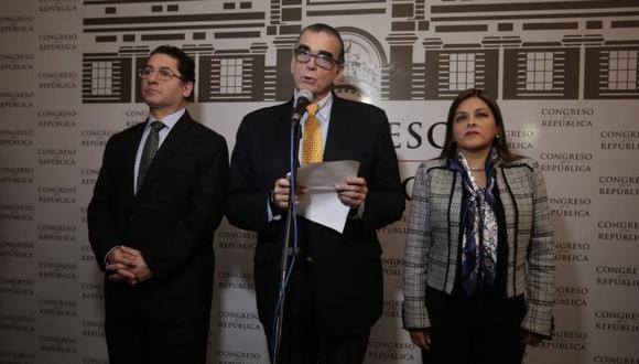 Olaechea se dirigió al presidente Martín Vizcarra en un pronunciamiento público. (Foto: Congreso)