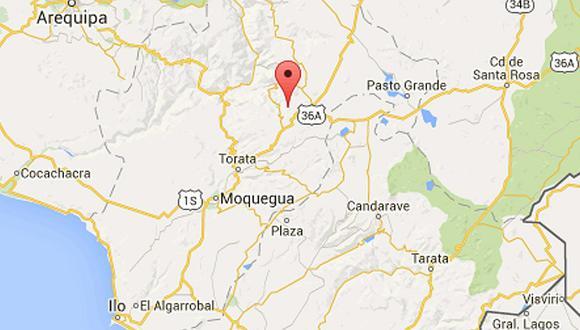 Un sismo de magnitud 3,9 se registró en Moquegua, la tarde del domingo a las 12:18 horas. (Foto captura)