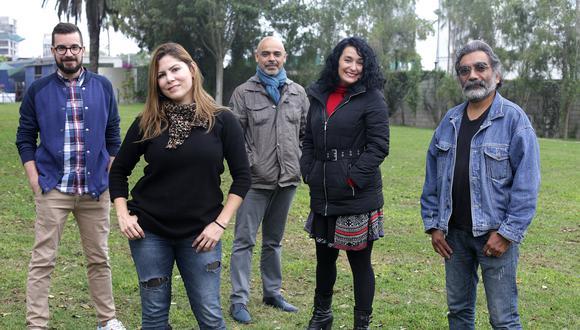 Encuentro barranquino con cinco directores con mucho que decir. De izq. a der.: Alfredo Correia, Kathy Serrano, Mayte Parias, Igor Olsen y Beto Benítez. (Foto: Nancy Chappell)