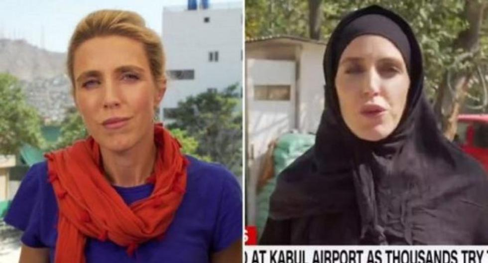 The dress of a CNN journalist that reflects the change before the arrival of the Taliban in Afghanistan