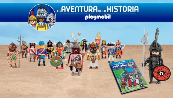 La Aventura de la Historia Playmobil es una colección compuesta de 14 entregas. cada entrega incluye una figura de pvc y una libro en tapa dura con valiosa información y actividades dirigidas a los más pequeños.