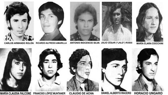 Estos son algunos de los estudiantes que fueron secuestrados hace 45 años en La Noche de los Lápices, durante la dictadura militar en Argentina.