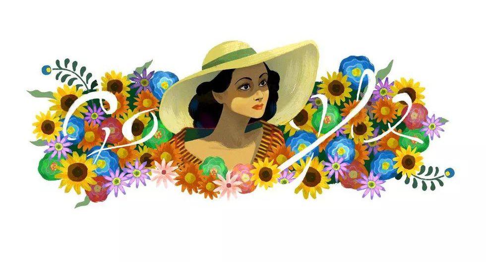 El 3 de agosto del 2017, la actriz mexicana Dolores del Río fue la protagonista del doodle de Google, en ocasión de un nuevo aniversario de su nacimiento, el 3 de agosto de 1904. (Captura de pantalla)