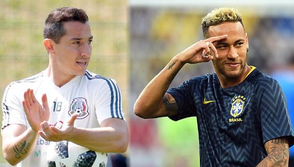 """""""A Neymar todos los conocemos, no me corresponde a mí juzgarlo, sino a los árbitros"""", aseguró Andrés Guardado, jugador de la selección mexicana. (EFE)"""