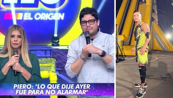 Elías Montalvo terminó internado en una clínica tras caer aparatosamente durante el reto de altura. (Foto: Instagram / captura América TV)