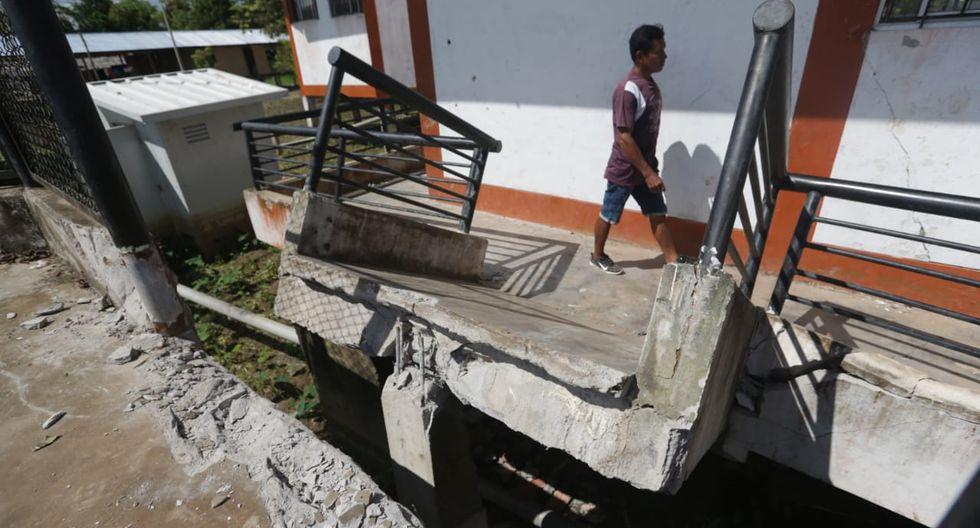 Sector educativo es el más afectado por el sismo en Loreto