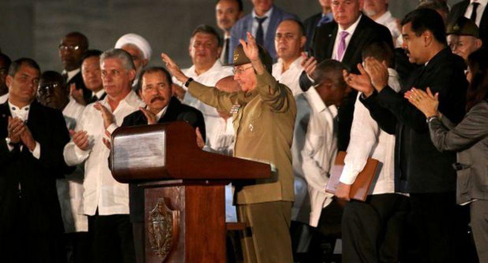 En el adiós a Fidel Castro hubo más ausencias que presencias