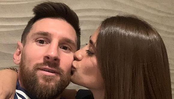 El cariñoso saludo de Antonela Roccuzzo a Lionel Messi. (Foto: Instagram)