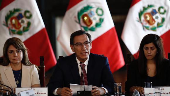 """Martín Vizcarra pidió al nuevo Congreso """"poner al Perú primero"""" durante un evento en Palacio de Gobierno. (Foto: GEC)."""