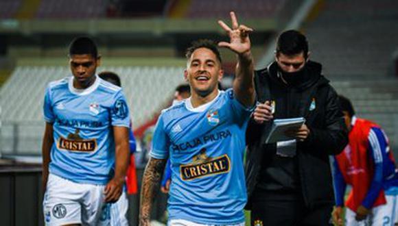 Hohberg anotó un doblete esta noche en el debut celeste por la Copa Sudamericana 2021. (Foto: Sporting Cristal)
