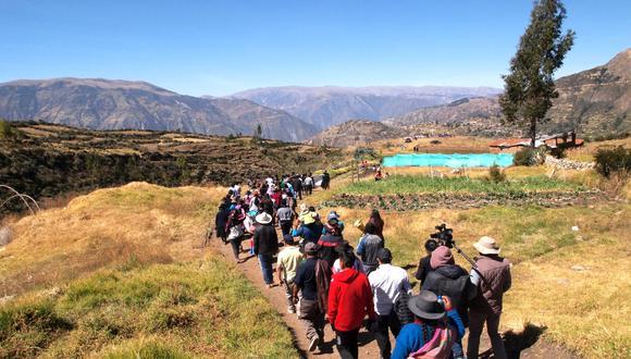 Este miércoles 26 de junio se inauguró el Parque de la Memoria de Chimpapampa, en el distrito de Hualla, provincia de Víctor Fajardo Ayacucho (Foto: Luis García / Cortesía).