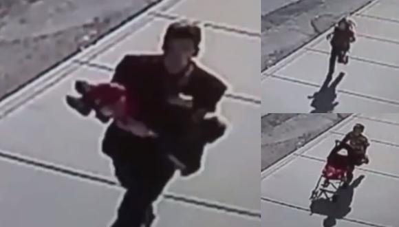 VIDEO: Evitaron rapto de su hermano persiguiendo a secuestrador