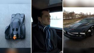 Joven austriaco invierte tiempo y dinero para fabricar réplicas de Batimóvil y el auto fantástico