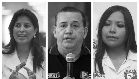 Unos 19 congresistas aspiran a ocupar cargos de elección popular el próximo 11 de abril. (Fotos: GEC)