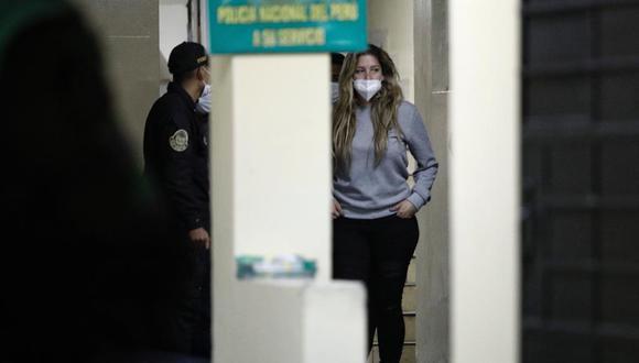 Franco en los interiores de la comisaría de Santa Felicia. (Foto: Joel Alonzo/ @photo.gec)