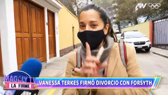 Vanessa Terkes estuvo casada con George Forsyth. (Foto: Captura Magaly TV: La Firme).