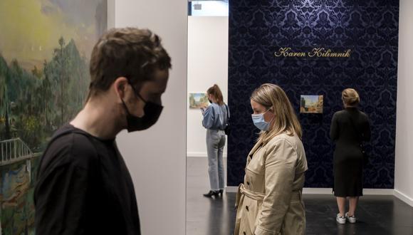 Estadounidenses en el Frieze Art Fair de New York. (Foto: EFE)
