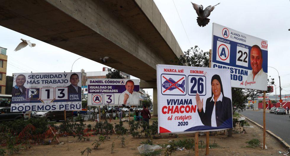 Así lucen las principales avenidas de la capital a pocos días de las elecciones congresales extraordinarias. (Foto: Alessandro Currarino/El Comercio)