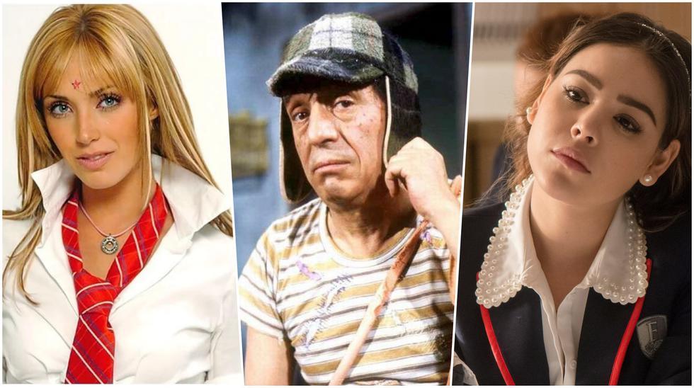 """Algunos actores de """"Rebelde"""", """"El Chavo del 8"""" y """"Élite""""  que interpretaron a menores de edad en series de TV y novelas... cuando eran adultos. Fotos: Televisa/ Netflix."""