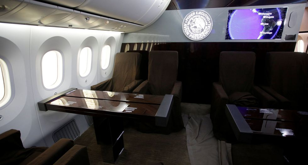 Resultado de imagen para avion presidencial de mexico por dentro