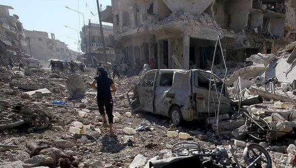 El bombardeo en la localidad de Maaret al-Numan dejó también más de 30 heridos. (Foto: AFP)