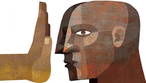 """""""El racista suele ser, a su vez, un acomplejado"""". (Ilustración: Giovanni Tazza)"""