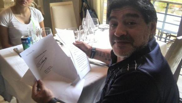 Desmienten muerte de Fidel Castro con carta escrita a Maradona