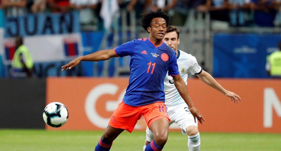 Colombia vs. Argentina EN VIVO ONLINE vía DirecTV Sports: empatan 0-0 por el Grupo B de la Copa América.   Foto: EFE