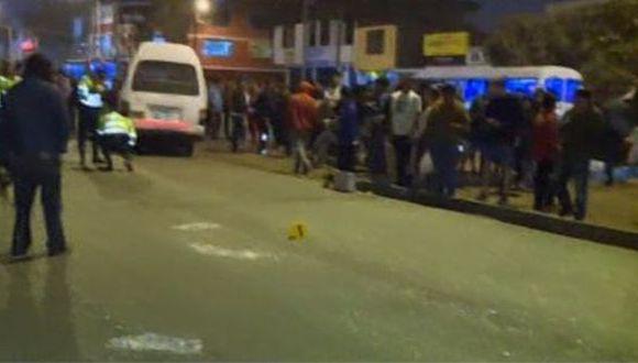 El responsable del accidente huyó del lugar. (Foto: Captura/América Noticias)