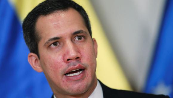 El líder de la oposición venezolana, Juan Guaido, durante una conferencia de prensa en Caracas, Venezuela. (Foto: REUTERS / Manaure Quintero).