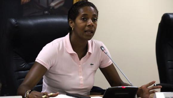 La legisladora de 41 años negó que en la bancada fujimorista haya una carga homofóbica. (Foto: Congreso de la República)