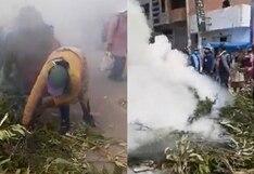 Juliaca: rondas campesinas sahumaron exteriores del mercado Santa Bárbara por COVID-19 | VIDEO