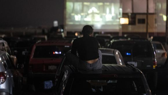 Autocine en México durante los días de distanciamiento social para luchar  contra el COVID-19. (Foto: AFP)
