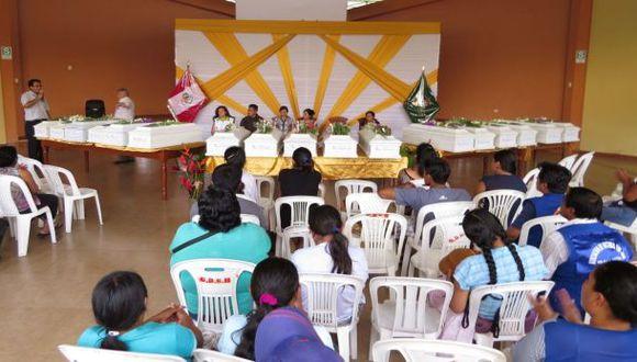 Satipo: entregaron restos de 17 víctimas de la violencia