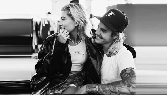 El apasionado beso de Justin Bieber y Hailey Baldwin en Instagram (Foto: @justinbieber)