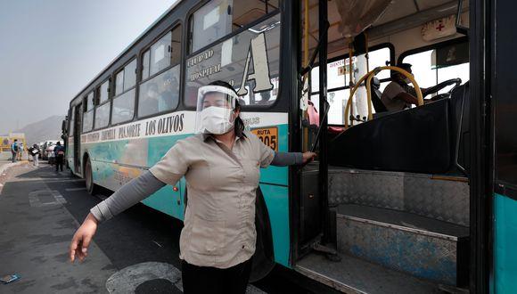 MTC realizarán campaña de difusión para promover el uso de protectores faciales. (Foto: Ángela Ponce/GEC)