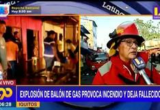 Iquitos: explosión de gas provoca incendio y deja dos fallecidos