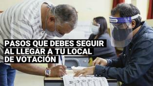 Elecciones 2021: ¿Cuáles son los pasos que debes seguir al llegar a tu local de votación?
